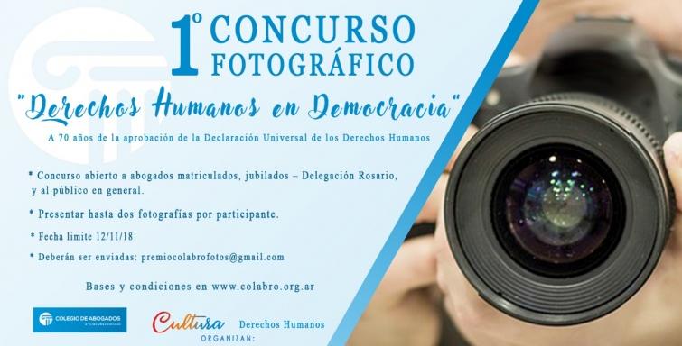 """1° Concurso fotográfico """"DERECHOS HUMANOS EN DEMOCRACIA"""""""