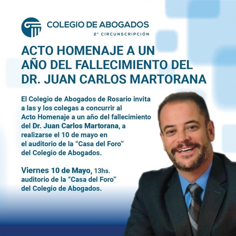 Acto homenaje a un año del fallecimiento del Dr. Juan Carlos Martorana