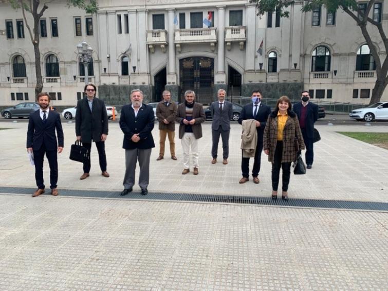 La Corte provincial se reunió con la flamante Federación de Colegios de Abogacía de Santa Fe