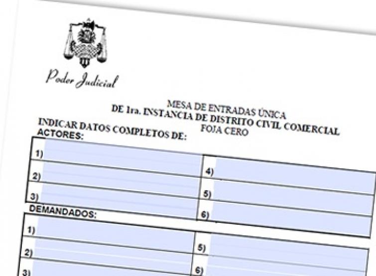 Fuero de Familia. Nueva Foja 0 acorde al Codigo Civil y Comercial