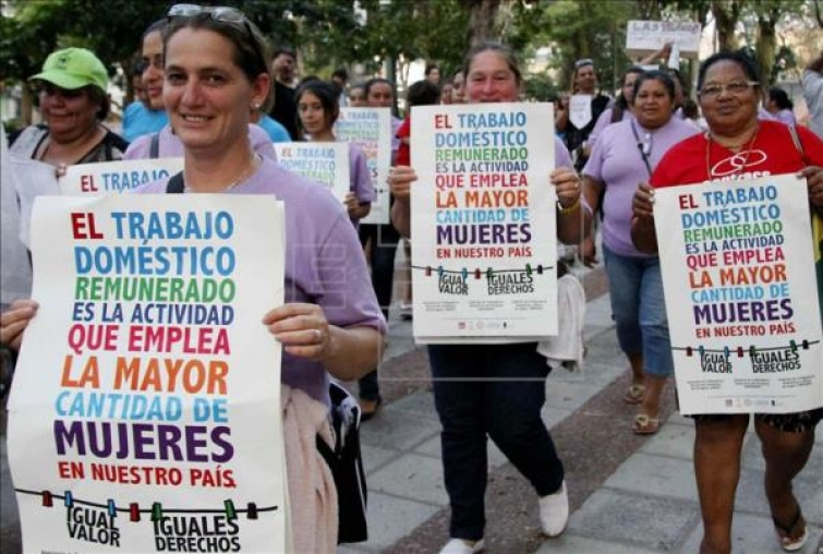 El personal de servicio doméstico de todo el país está amparado por un régimen de salarios mínimos