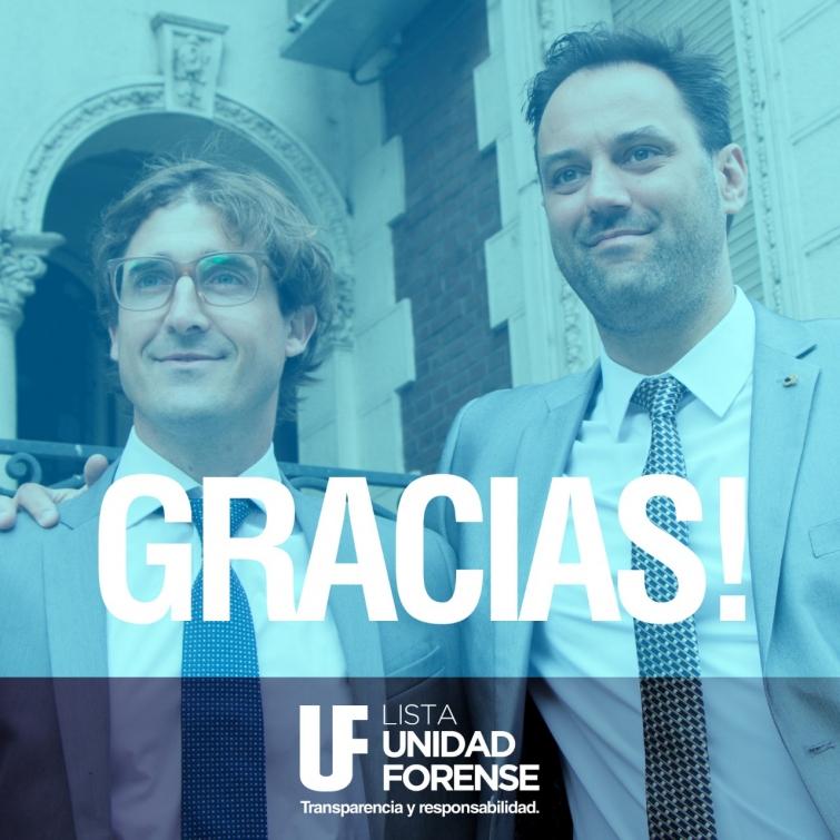Unidad Forense ganó en todas las mesas electorales de Rosario y el interior