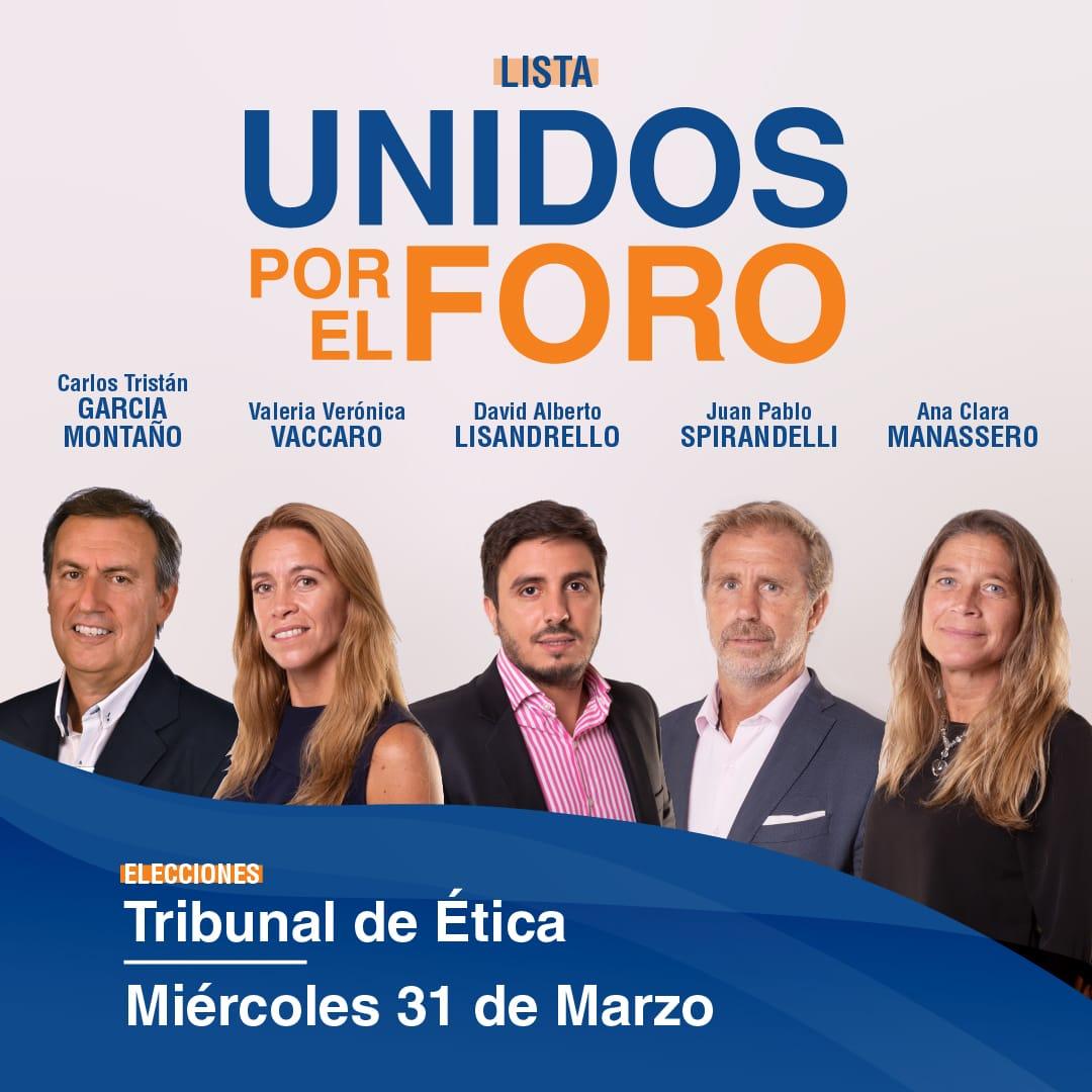 UNIDOS POR EL FORO. Elecciones Tribunal de Ética