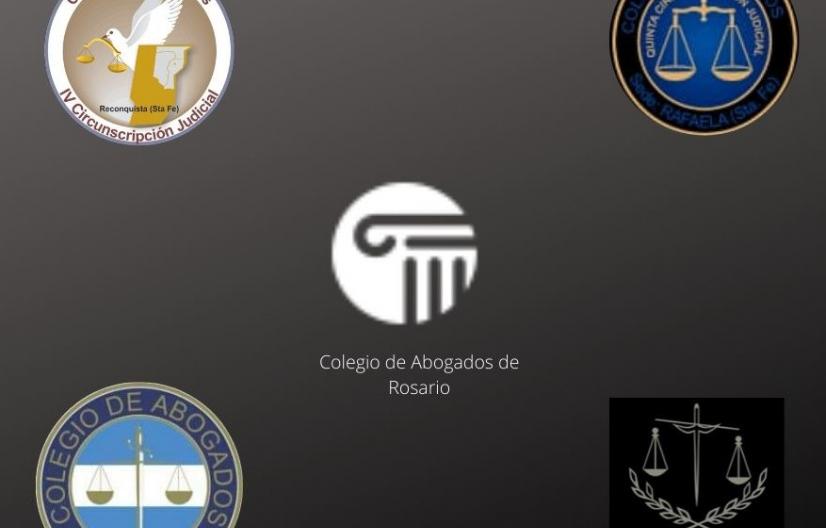 Los cinco colegios de abogados de Santa Fe solicitaron la suspensión de audiencias salvo acuerdo de partes