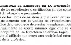 Amparo contra la Caja Forense por el aumento ilegal de cuota a los jóvenes abogados.