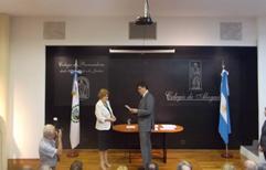 Asumió el nuevo Directorio del Colegio de Abogados, presidido por Araceli Díaz. Ver discurso completo.