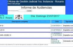 Audiencias penales hasta los domingos