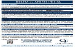 La Caja Forense aumentó la Boleta de Aporte Inicial un 100%