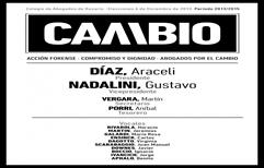 Elecciones Colegio de Abogados – La lista CAMBIO obtuvo 1333 votos (el 46.31%), y la  Dra. Araceli DIAZ se convirtió en la Presidenta del Colegio, ver estadísticas.
