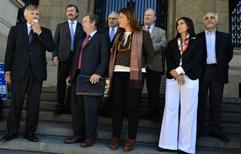 Frente al palacio de Tribunales, abogados reclamaron la reincorporación de Campagnoli