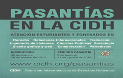 Te interesa hacer una pasantía en la Comisión Interamericana de Derechos Humanos CIDH?
