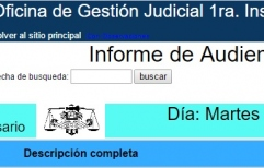 Mira la fecha de tu Audiencia Penal on-line