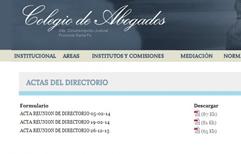 Por primera vez en su historia, el Colegio de Abogados de Rosario publica las actas de Directorio