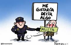 Reforma del Código Penal español y Ley Mordaza: todos calladitos